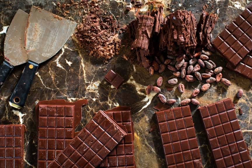 Kathy Cahill's finished homemade chocolate bars, at her home in Atlanta.